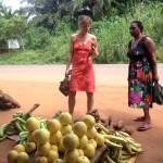 Fruktmarknad i Agou